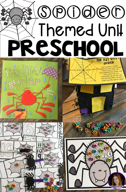Spider Centers, Activities and Book Based Lesson for Preschool