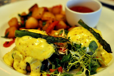 Crab Cake Benedict at Marble Lane in New York, NY - Photo by Taste As You Go
