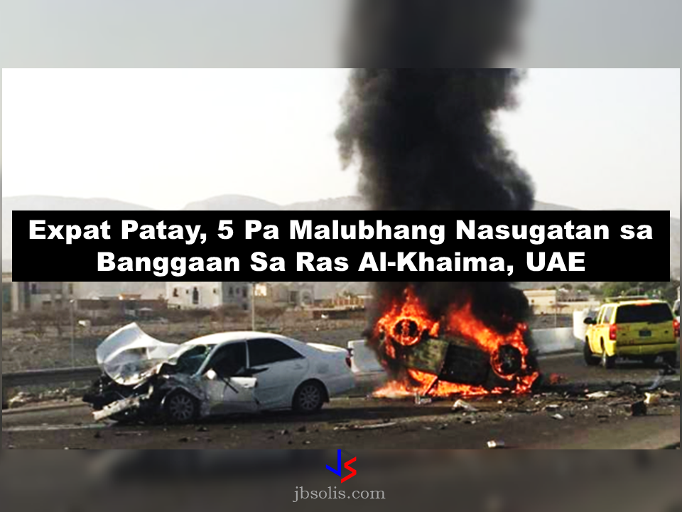 An expat died on the spot and five other people, including two Emirati sustained serious injuries following a traffic accident in Ras Al Khaimah last Thursday morning.  The dreadful road accident happened on the Rams-Shamal road, Ras Al Khaimah's new Ring Road which is not yet officially open for public traffic.  Police report says that three Asians and two Emirati women sustained serious injuries. The victims were immediately brought to a hospital for treatment. One Asian on the other hand died on the spot sustaining severe burns and fatal injuries.  The two vehicles, one with four Asian expats onboard and the other with two Emirati women, collided head-on causing one of the vehicles ending up engulfed in flames resulting to death of the Asian driver. Responders said that the blaze was so huge and they could not retrieve the Asian driver who immediately died on the scene.  The identities of the victims or whether there are Filipinos involved in the accident are yet to be disclosed.  Brig Al Humaidi urges the public to be extra cautious in driving on UAE roads. He also advised the motorists not to use the streets that are under construction or not yet open for public traffic to avoid accidents.  He explained that using such roads puts the lives of motorists at great risk. He also urged residents to abide with existing traffic rules and abide by the speed limit. Statistics show that in 2016 alone there were 4,788 road accidents in the UAE that claimed 725 lives. Sources: Khaleej Times, Gulf news Read More:  China's plans to hire Filipino household workers to their five major cities including Beijing and Shanghai, was reported at a local newspaper Philippine Star. it could be a big break for the household workers who are trying their luck in finding greener pastures by working overseas  China is offering up to P100,000  a month, or about HK$15,000. The existing minimum allowable wage for a foreign domestic helper in Hong Kong is  around HK$4,310 per month.  Dominador 