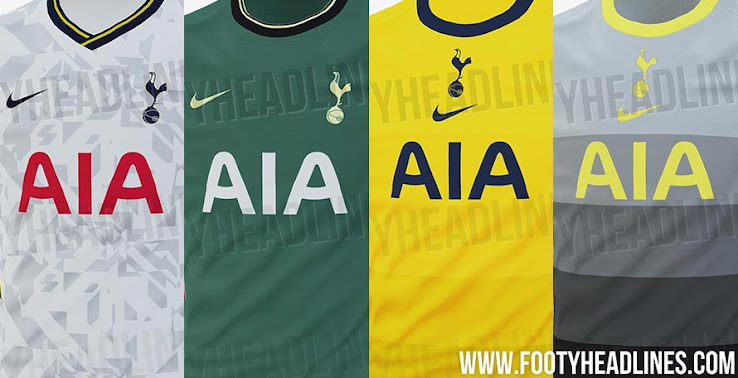 Nike Tottenham 20 21 Home Away Third Fourth Kits Leaked Footy Headlines
