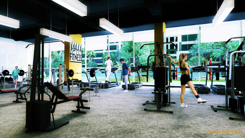 Phòng tập Gym dự án Amber Riverside 622 Minh Khai