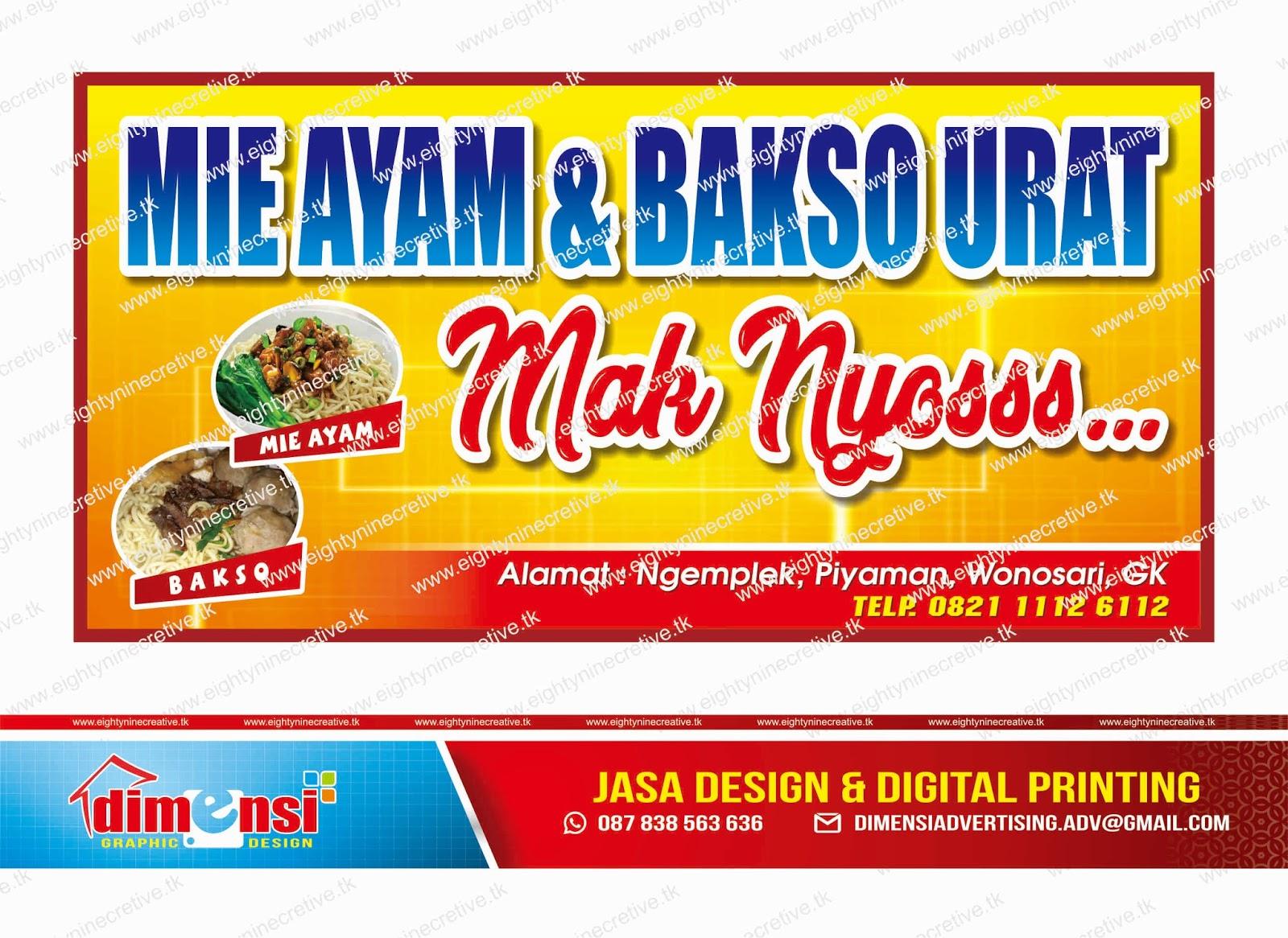 Download Contoh Spanduk Warung Mie Ayam dan Bakso ...