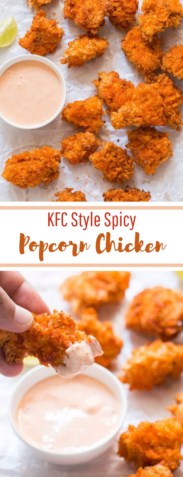 KFC Style Spicy Popcorn Chicken #appetizer #party