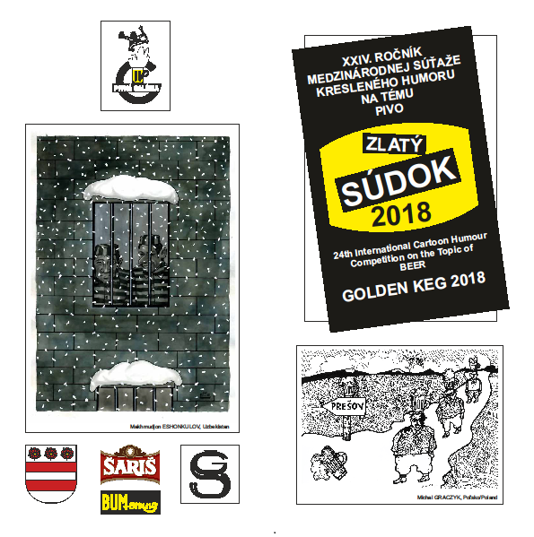 Gold Pencil_24th International Cartoon Competition on the Topic of Beer, Golden Keg 2018, Slovakia