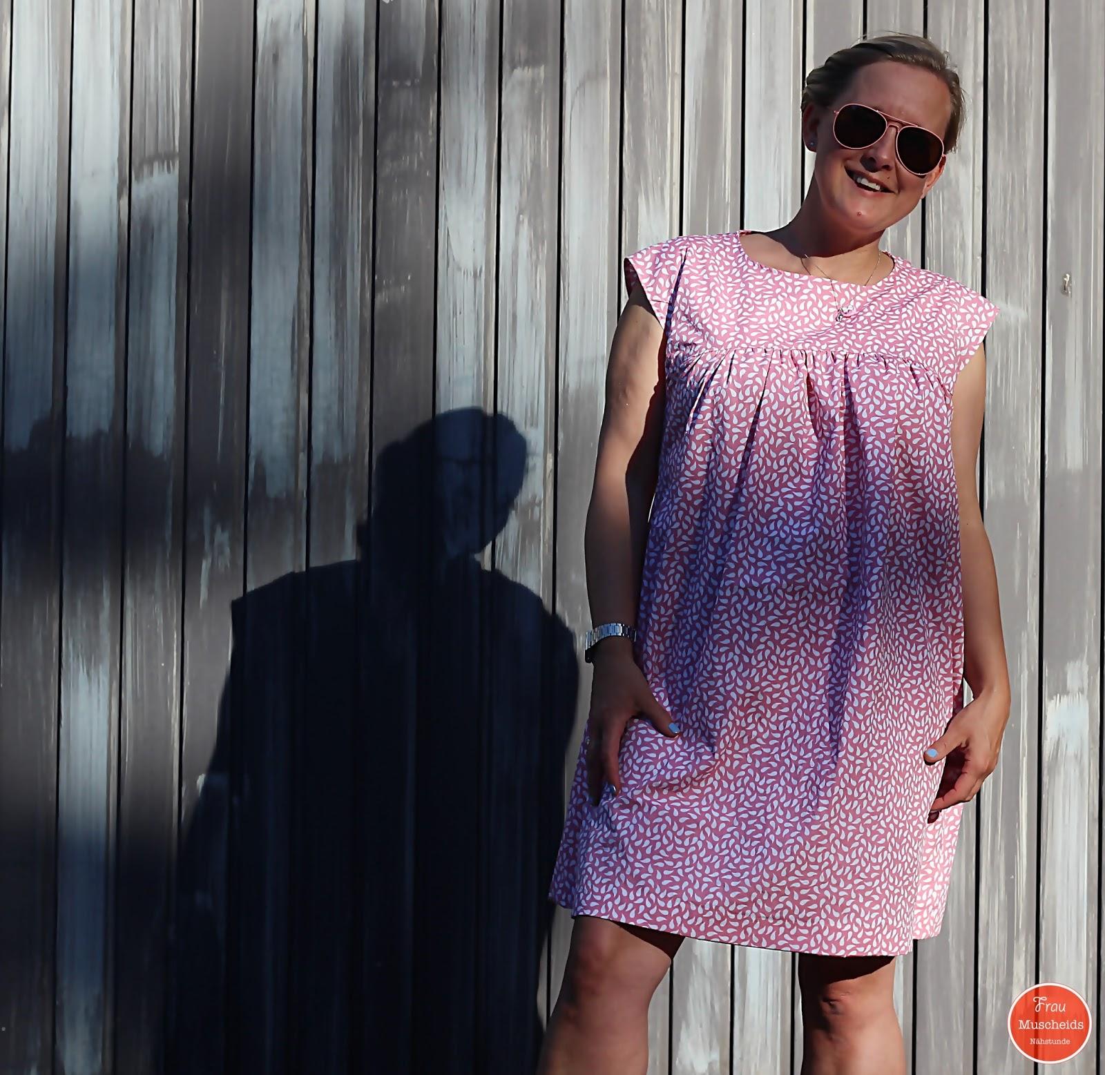 frau muscheids nähstunde: ein sommerkleid in rosa: kleid