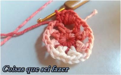 Flor de crochê simples