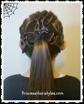 Unique spider web hair tutorial