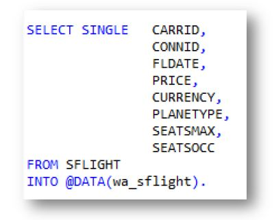 SAP ABAP SELECT STATEMENT