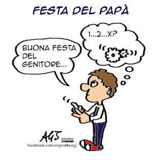 festa del papà, genitore 1, genitore 2, complotto gender, gender, tradizioni, vignetta, satira