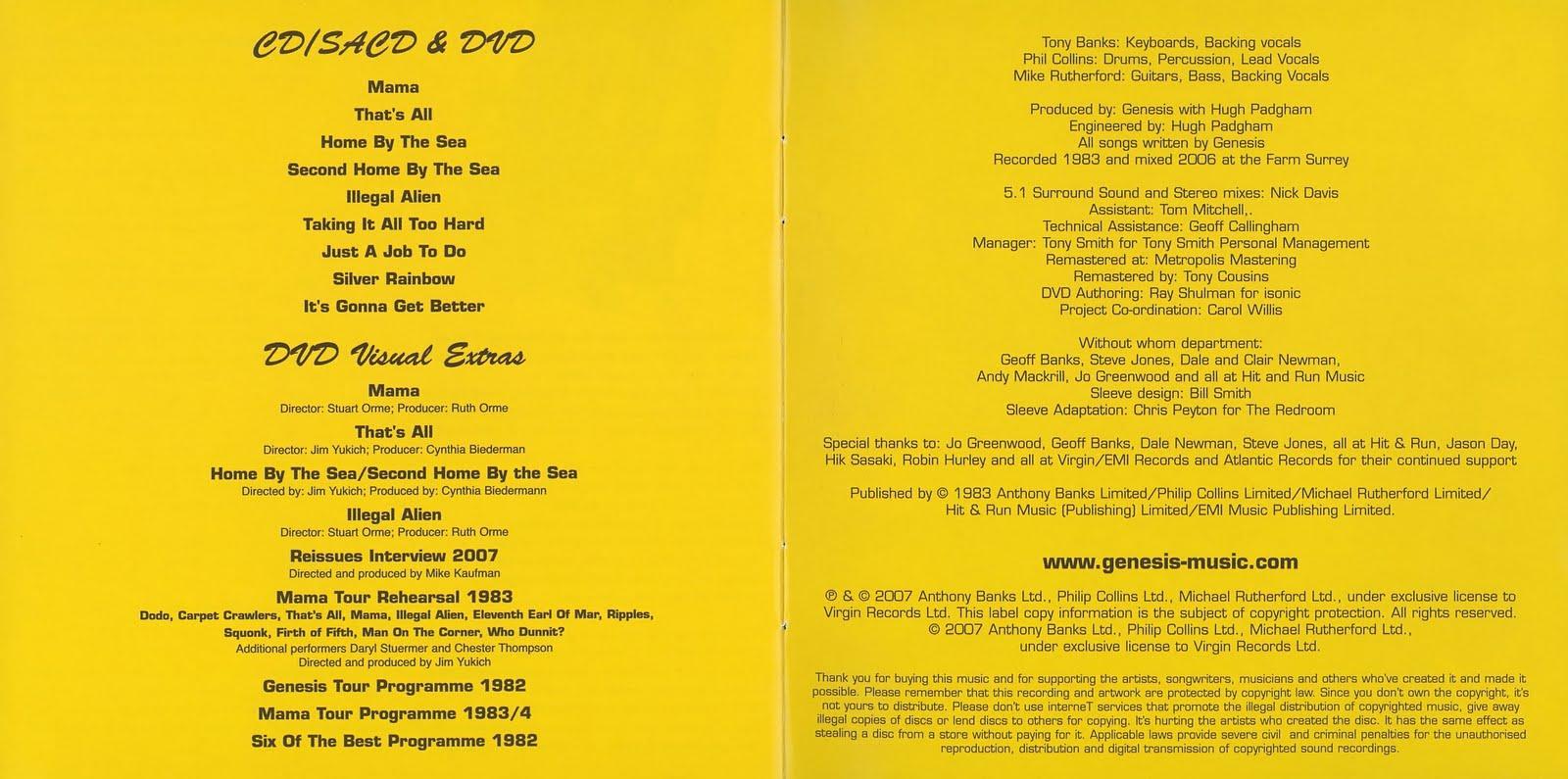 lampu mercury: Genesis - Genesis 1983 (DVD-AUDIO SACD)