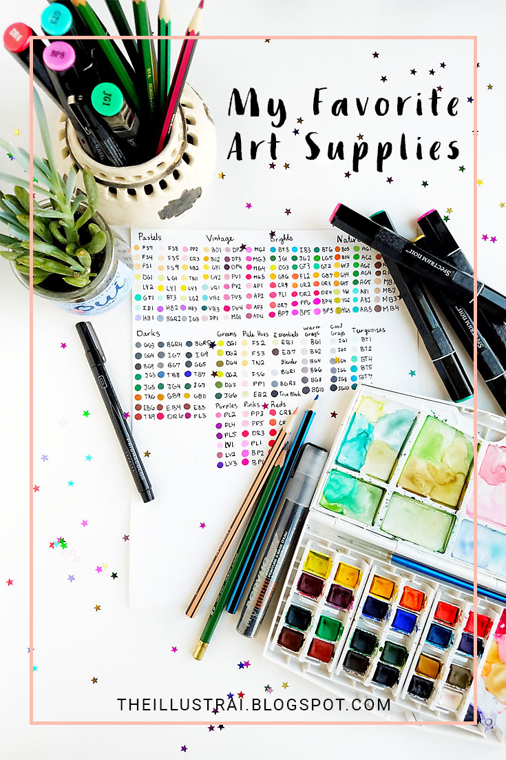 I'm sharing my favorite art supplies and why I like them in this blog post. Read on for my personal supply recommendations.