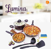 Dusdusan Lumina Cookware 7 Pieces Aluminium Non Stick (Set of 7) ANDHIMIND