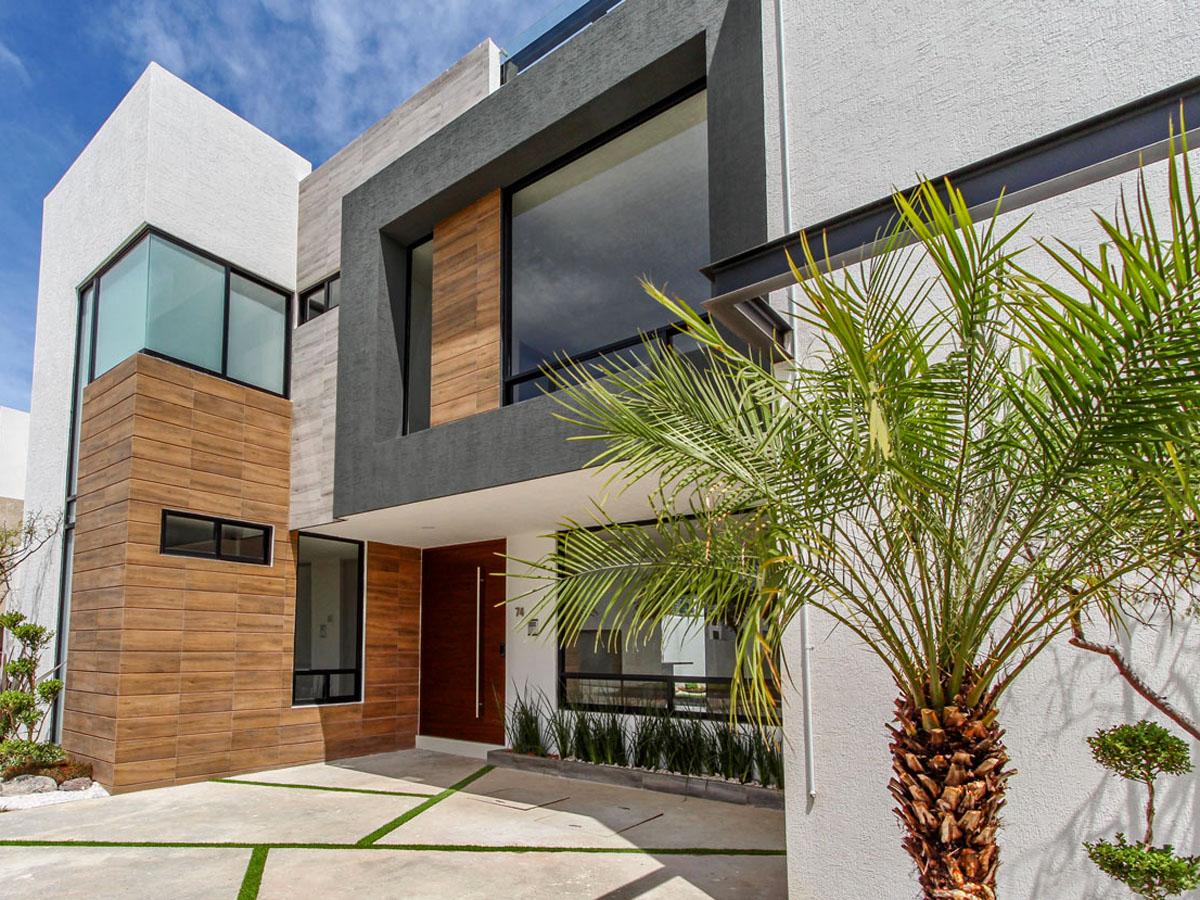 ideas para fachadas de casas modernas minimalistas de dos o tres pisos