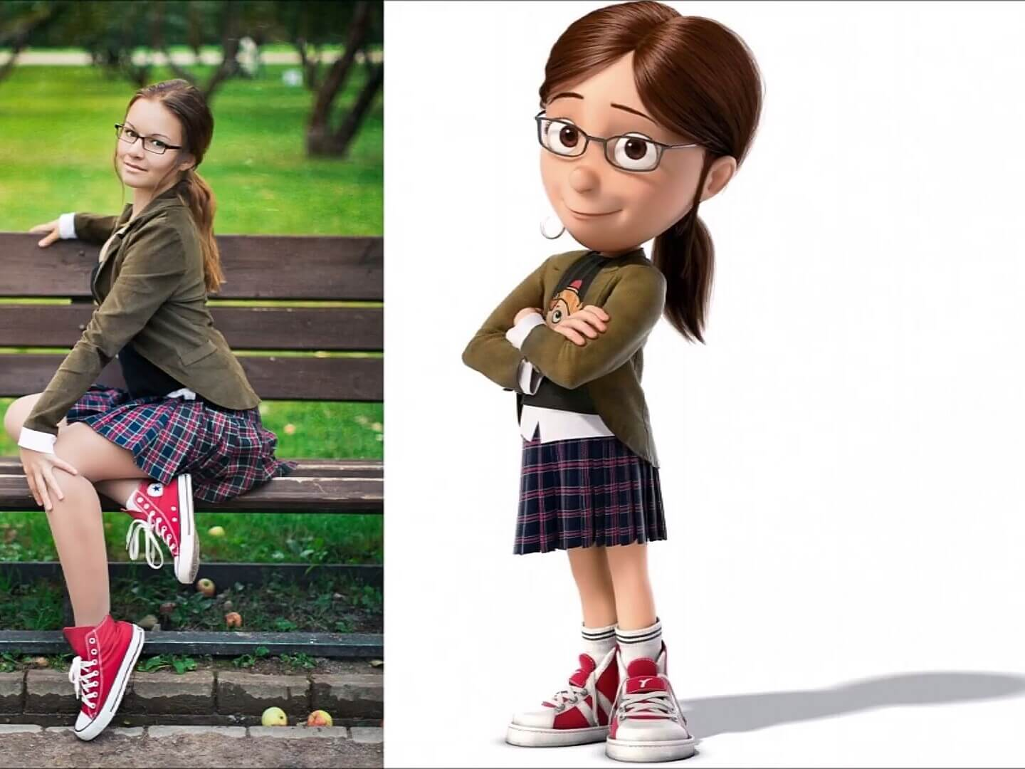 20 Amazing Cosplays That Look Extremely Similar To The Original Cartoons - Look at the eldest foster girl from Gru!