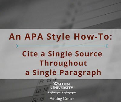APA How To: Citing Through a Single Paragarph