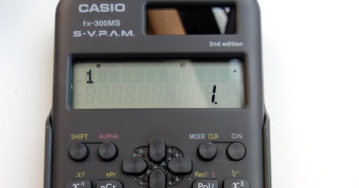 Eddie's Math And Calculator Blog: Review: Casio Fx-300MS