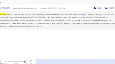 بايدو تطلق تطبيق SwiftScribe لتدوين الصوت