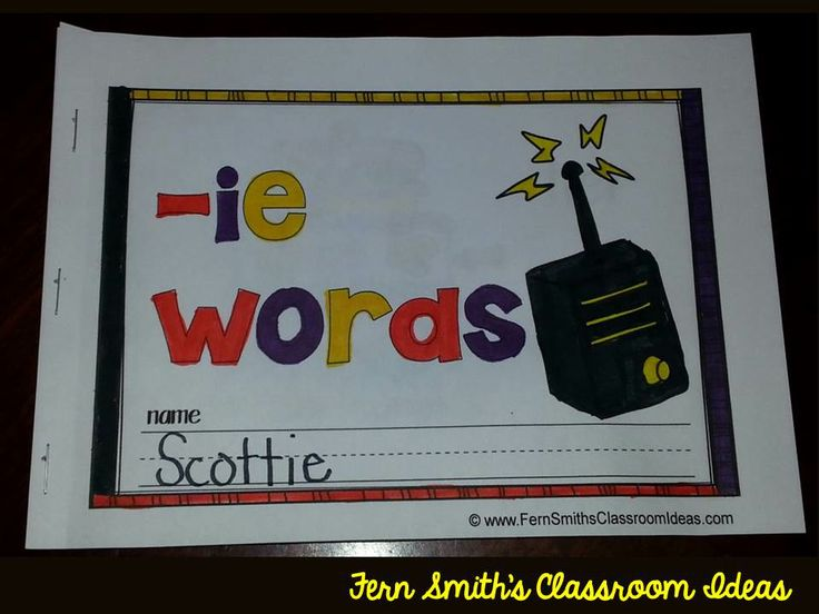 Printable Phonics Mini-Books for the -ie Family {Long e}