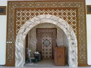 Gebyok Masjid Ornamen Atas Mimbar