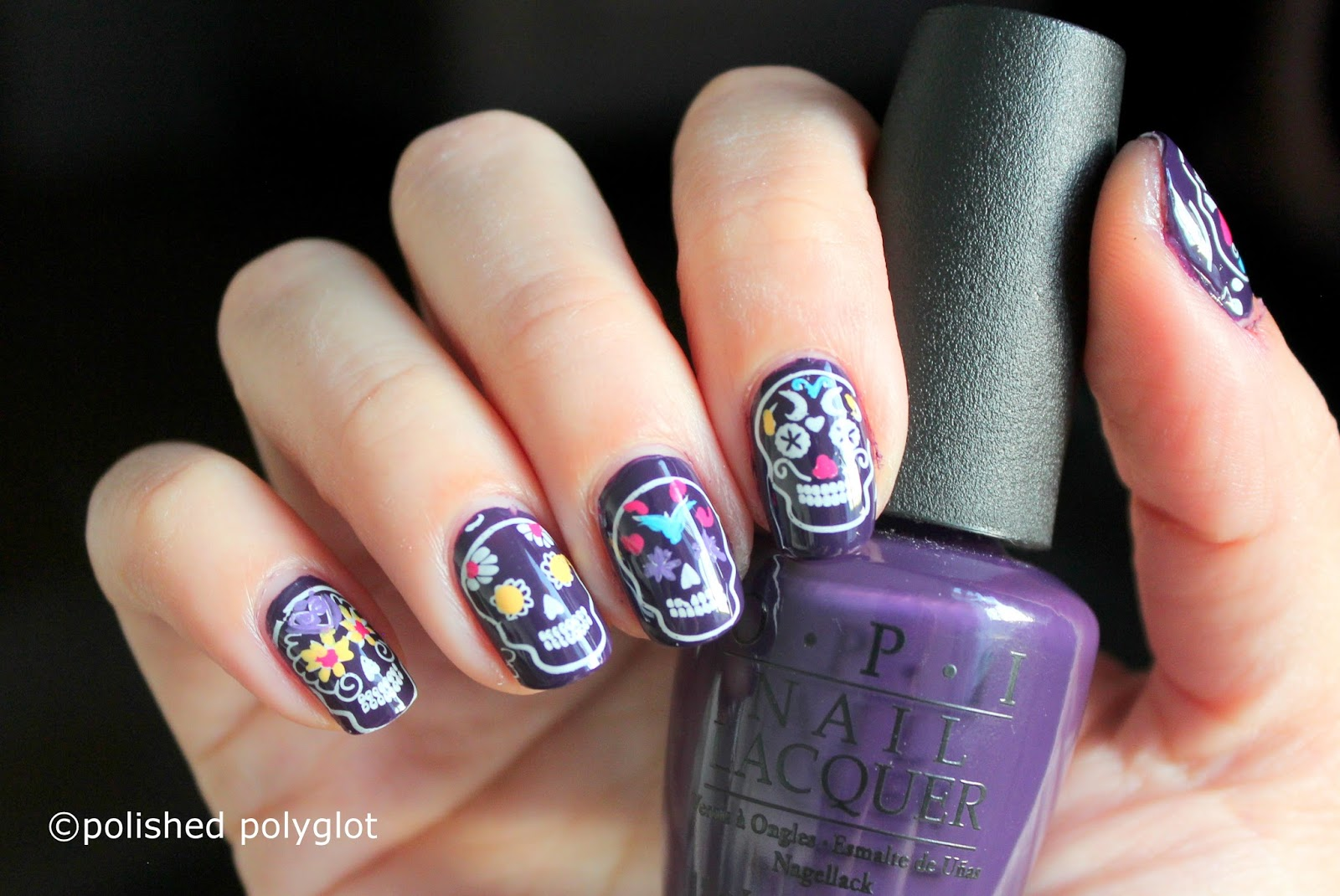Nail art manicure with sugar skulls nail crazies unite nail art manicure with sugar skulls nail crazies unite prinsesfo Image collections