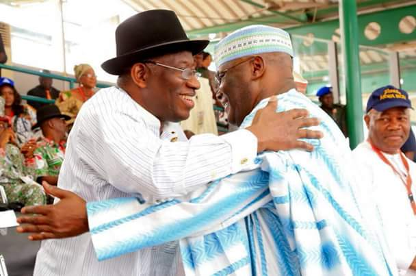 """It's good to be back home"" - Atiku Abubakar embraces Good luck Jonathan"