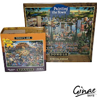 500ct Jigsaw Puzzle and Painting the Town Wall Calendar