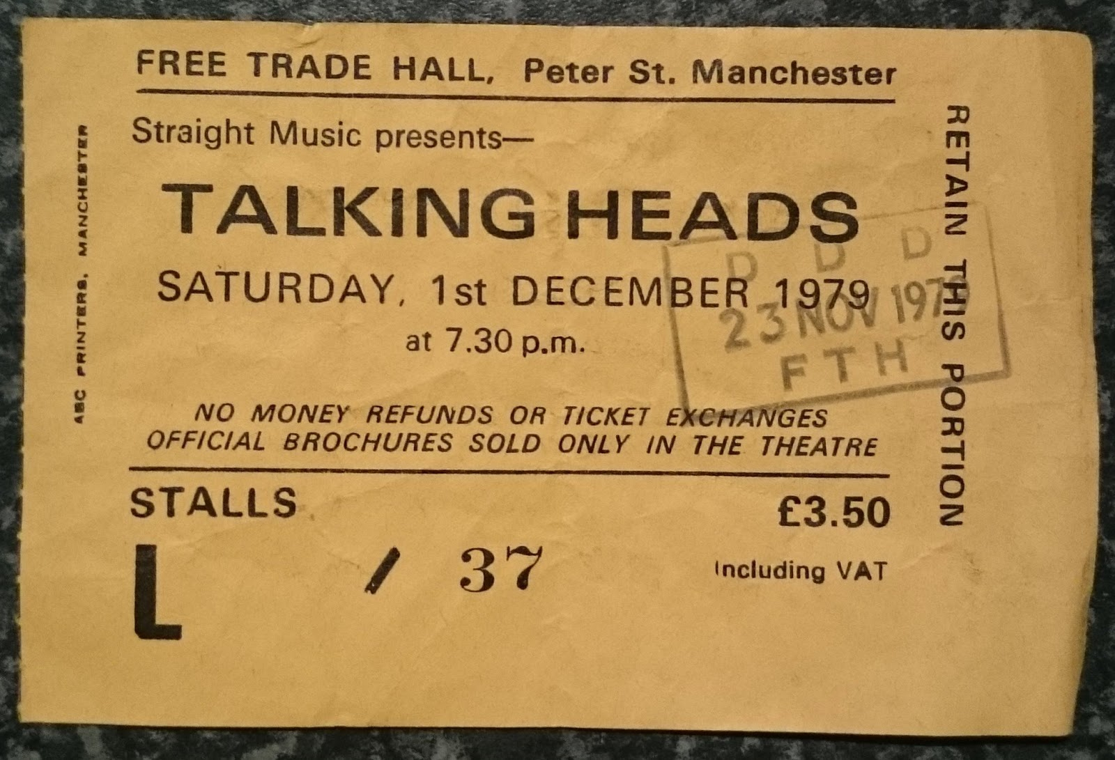 01 Dec 1979, Free Trade Hall, Manchester - ACR Gigography