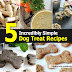 5 SIMPLE DOG TREAT RECIPES