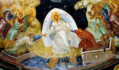 Μονή Χώρας: Μια παράσταση στην οποία κυριαρχεί το λευκό   του Ενδύματος Του Χριστού και Της Δόξας που Τον Περιβάλλει