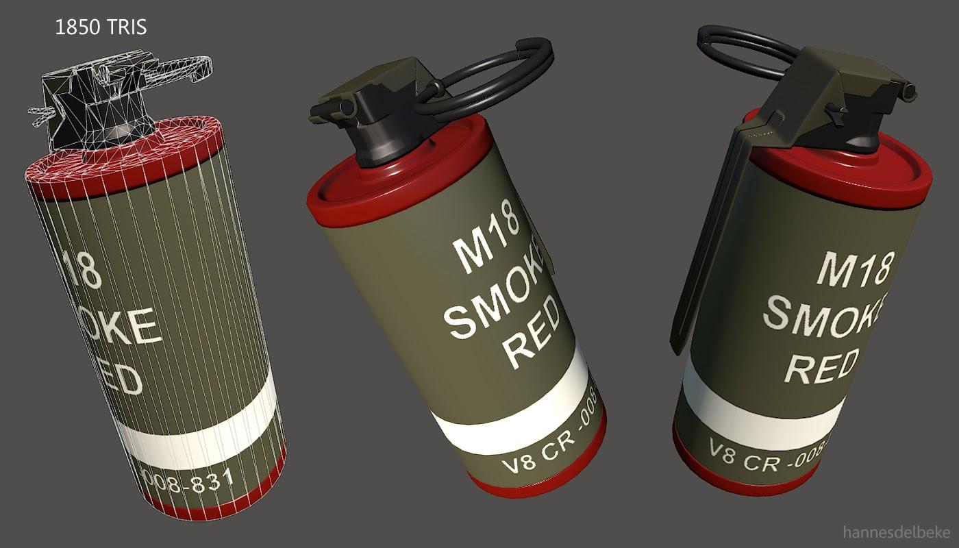 Hannes Delbeke: m18 smoke grenade
