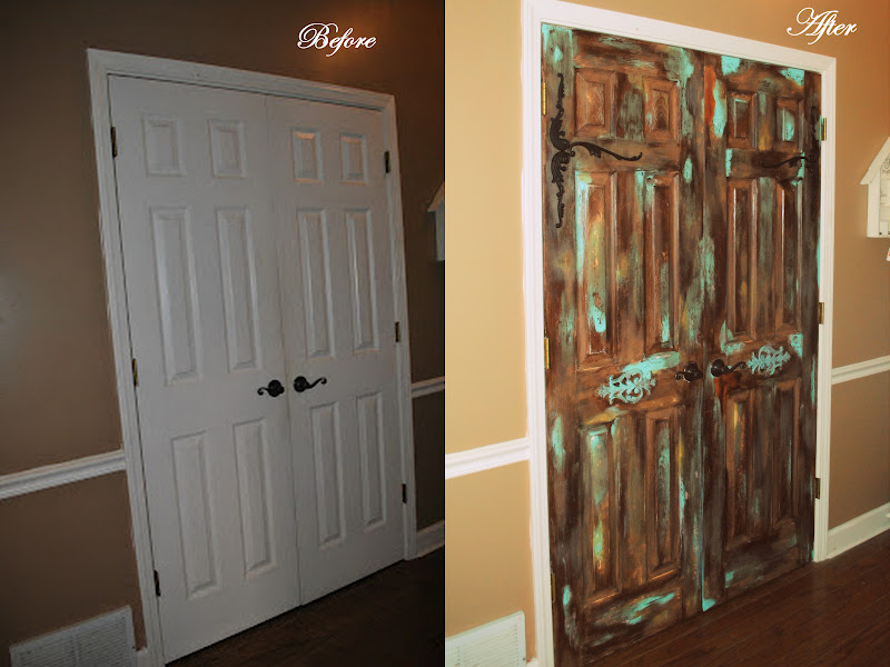 Amazing Grays Pantry Part Two Antiqued Pantry Doors