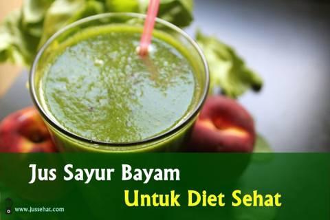Resep jus sayur bayam untuk diet mix buah-buahan