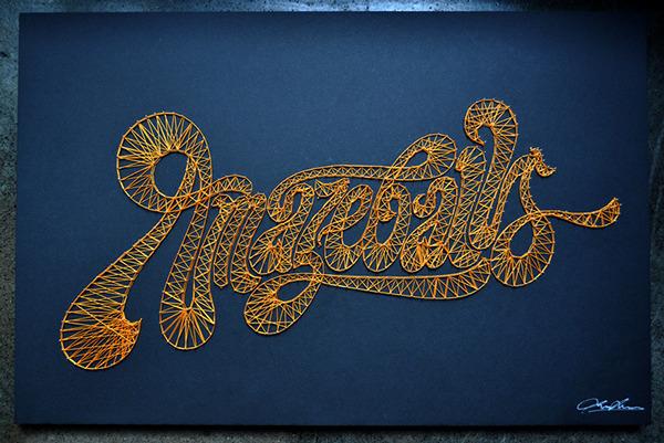 typografia na szpilkach nicia