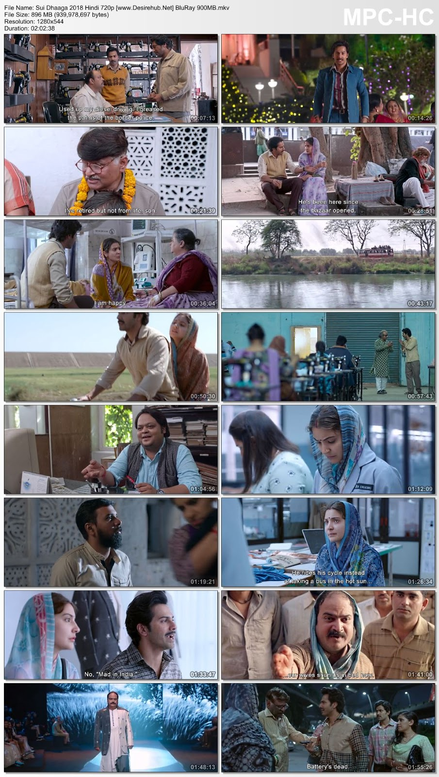Sui Dhaaga 2018 Hindi 480p BluRay 350MB Desirehub