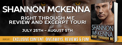 Book Review and Giveaway: Right Through Me (The Obsidian Files #1) by Shannon McKenna-NWoBS Blog