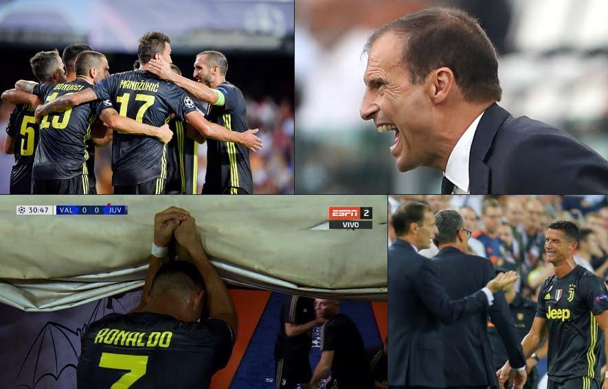 Juventus efficace a Valencia però perde CR7 Ronaldo (espulso) e Dougla Costa (infortunio).