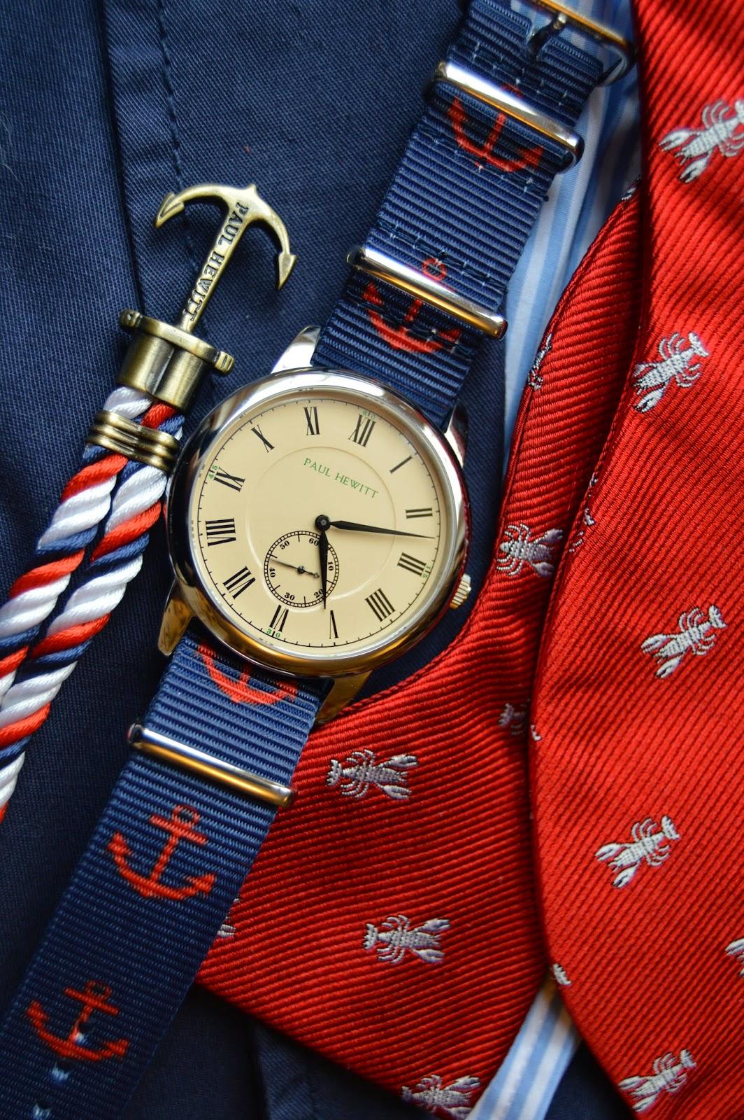 Sporty Wristwatch in the Preppy Style of Brand Paul Hewitt