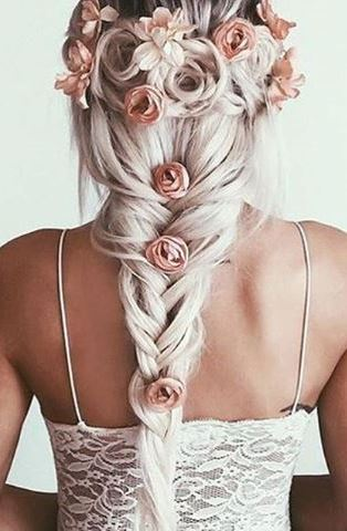 summer braid idea with flower