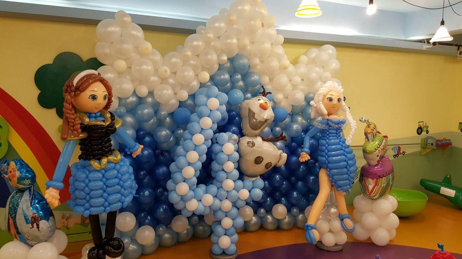 氣球冰雪奇緣場地佈置