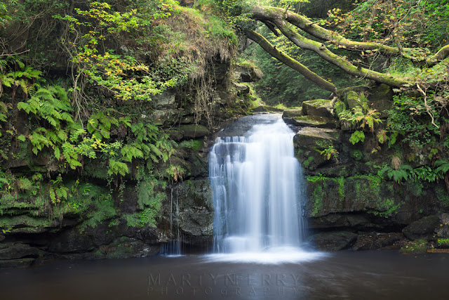 Thomason Foss waterfall at Beck Hole North Yorkshire by Martyn Ferry Photography