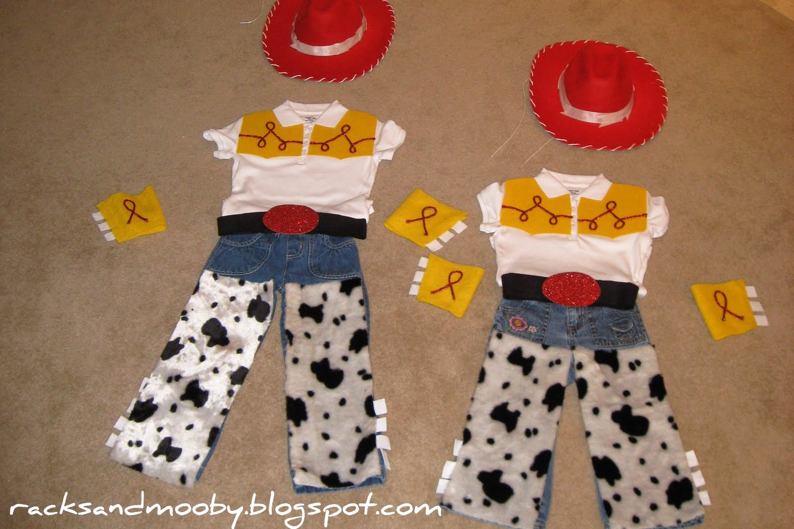 DIY Jessie (Toy Story) Toddler Costume - no sewing! & RACKS and Mooby: DIY Jessie (Toy Story) Toddler Costume - no sewing!