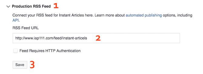 Create Articles by RSS Feed