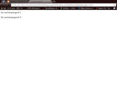 {HTML PART 2}Membuat Dokumen HTML Pertama:1,{title,paragaraf,dan line breaks}