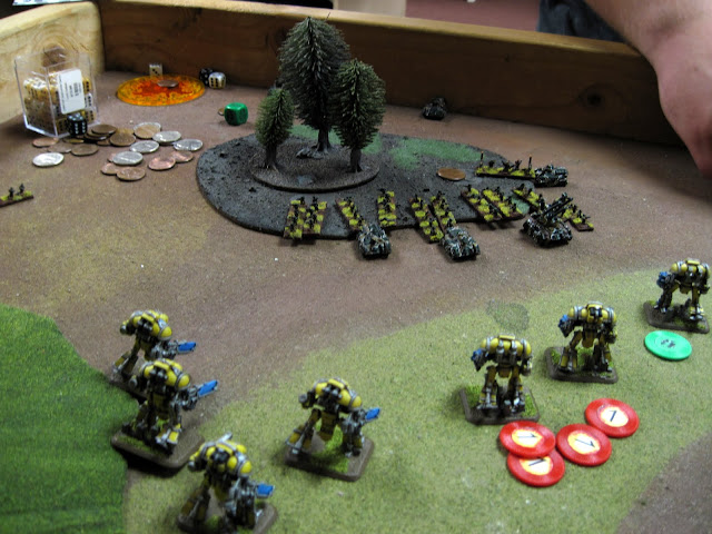Errants and Paladins make for the Regimental HQ.
