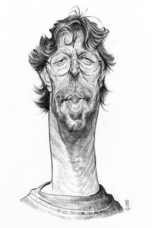 """Eric Clapton"" por Alberto Russo"