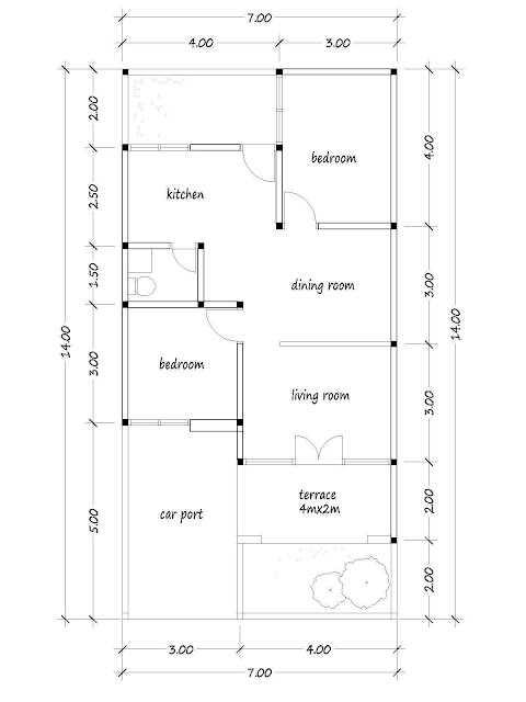 layout of house plan A-20b