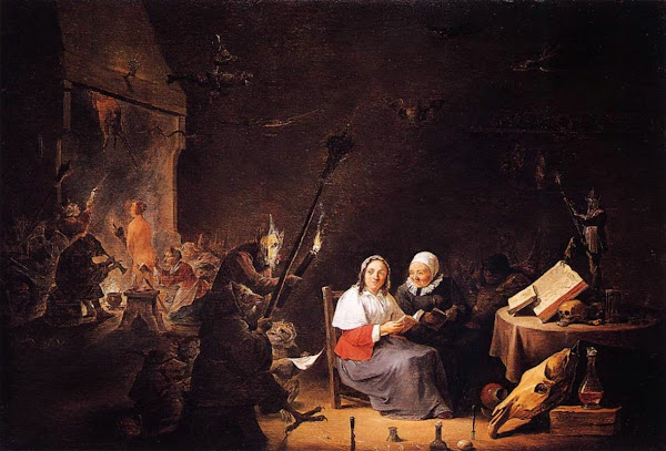 Witches, David Teniers the Younger, Macabre Art, Macabre Paintings, Horror Paintings, Freak Art, Freak Paintings, Horror Picture, Terror Pictures