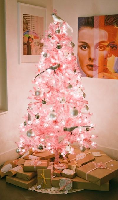 Horror o amor rbol de navidad rosa ministry of deco - Arboles de navidad rosa ...