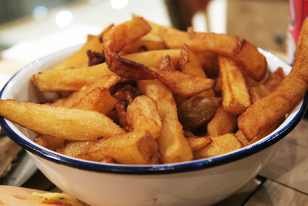 Twice cooked chips at Smoke Barbecue Leeds