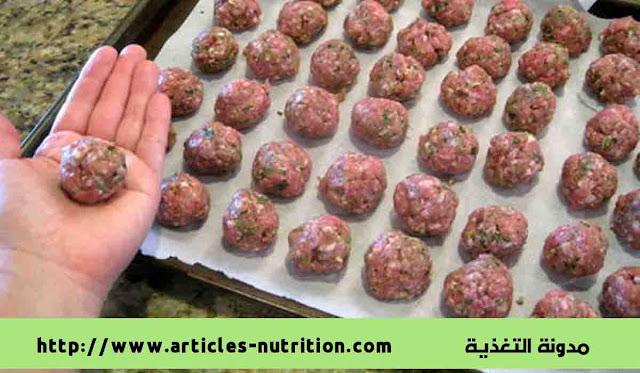 وصفة طبخ كرات اللحم بصلصة الشواء مدونة التغذية